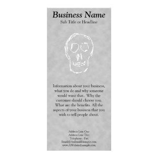 Weird Skull. White. Sketch. Rack Card