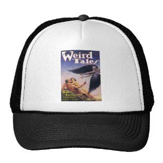 weird tales art trucker hat
