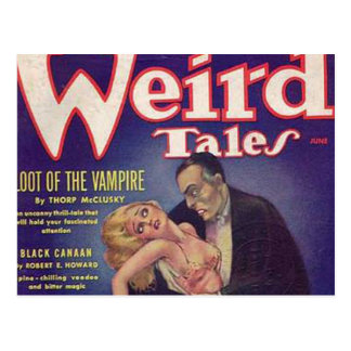 Weird Tales Vampire Comic Book Postcard