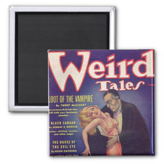Weird Tales Vampire Comic Book Square Magnet