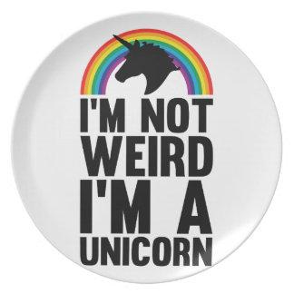 Weird Unicorn Plate