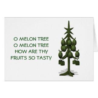 Weird Watermelons Christmas Tree Card