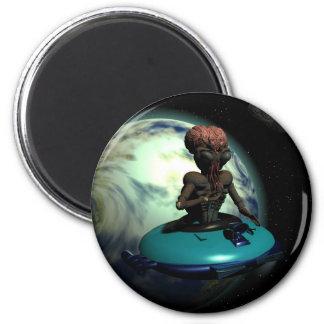 Weird Wheels Outa This World Magnet