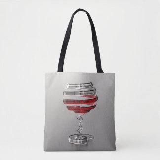 Weird Wine Glass All-Over-Print Tote Bag