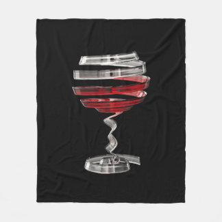 Weird Wine Glass Fleece Blanket