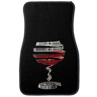 Weird Wine Glass Front Car Mat