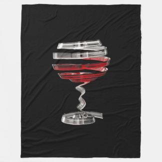 Weird Wine Glass Large Fleece Blanket