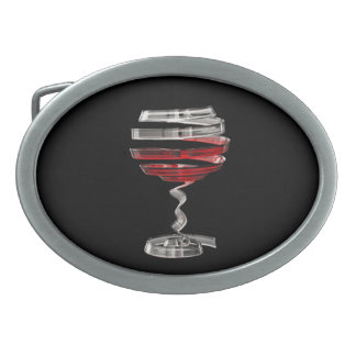 Weird Wine Glass Oval Belt Buckle