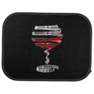 Weird Wine Glass Rear Car Mat