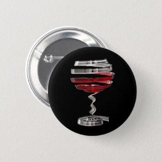 Weird Wine Glass Round Button
