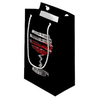 Weird Wine Glass Small Gift Bag
