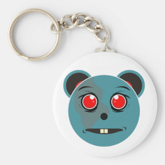 weirdo doll basic round button key ring