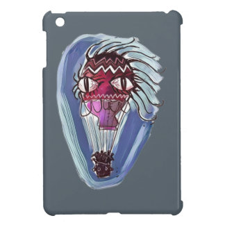 weirk hot air balloon cartoon style illustration iPad mini case
