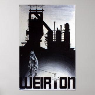 Weirton Steel Mill Blast Furnace Poster