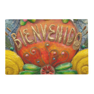 Welcom sign in Spanish, Mexico Laminated Place Mat