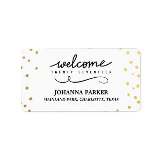 Welcome 2017 Handwritten Script New Year Address Label