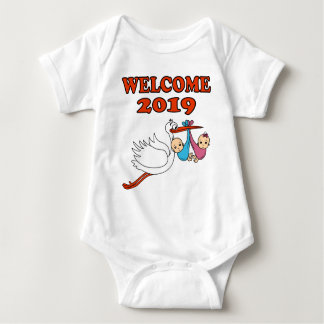 Welcome 2019 baby pregnancy birth baby bodysuit