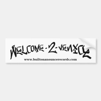 Welcome 2 Venice Bumper Sticker