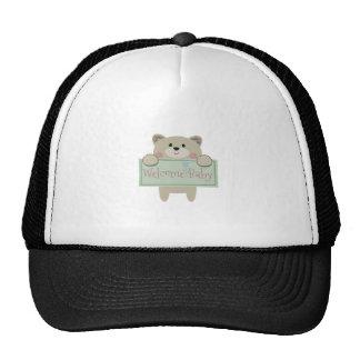 WELCOME BABY APPLIQUE CAP