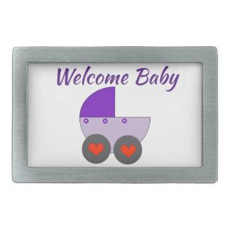 welcome baby belt buckles