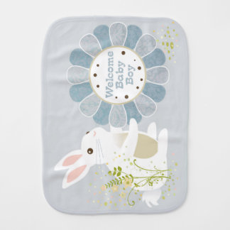 """Welcome Baby Boy"" Burp Cloth"