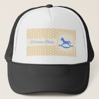 Welcome Baby Design Trucker Hat