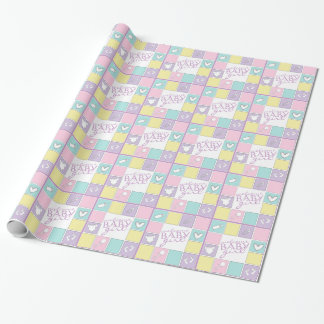 Welcome Baby Girl Colorful Wrapping Paper