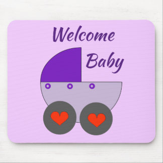 welcome baby mouse pad