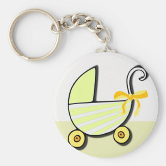 Welcome Baby or Baby Shower Basic Round Button Key Ring