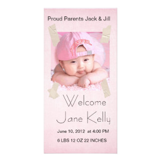 welcome baby photocard customized photo card