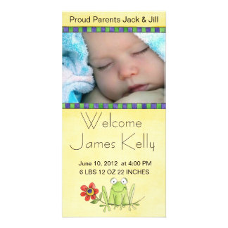 welcome baby photocard personalized photo card