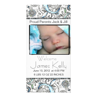 welcome baby photocard photo card