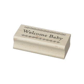 Welcome baby rubber stamp