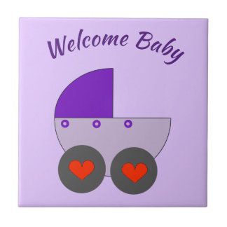 welcome baby tile