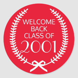 Welcome Back Class Of Round Sticker