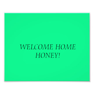WELCOME BACK PHOTO PRINT