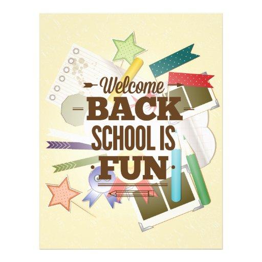 Welcome Back School Is Fun Custom Flyer