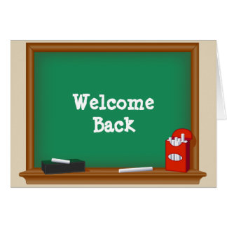 Welcome Back Students Card