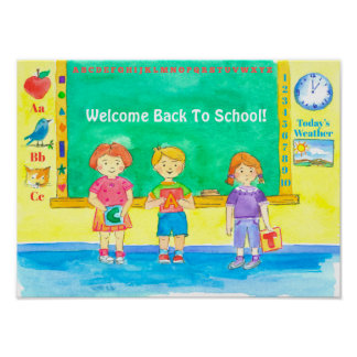 Welcome Back To School Classroom Poster