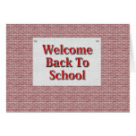 Welcome Back To School Greeting Cards