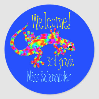 Welcome Back to School Stickers with Salamander