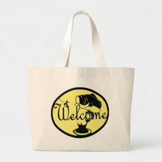 Welcome Bass Large Tote Bag