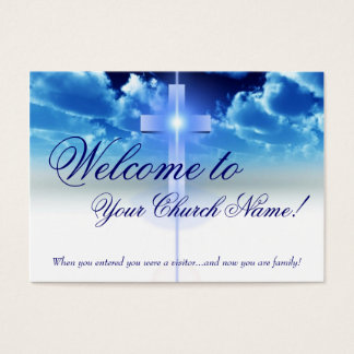 Welcome Card: Illuminated Cross Visitor Card