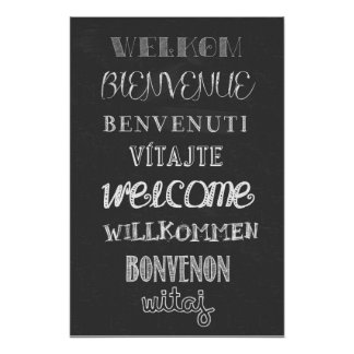 Welcome! Chalkboard poster