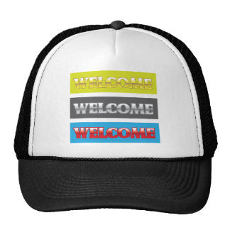 Welcome Chrome Words Cap