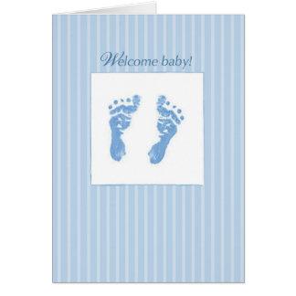 Welcome, Congratulations Baby Boy Card