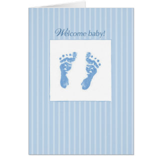 Welcome, Congratulations Baby Boy Greeting Card