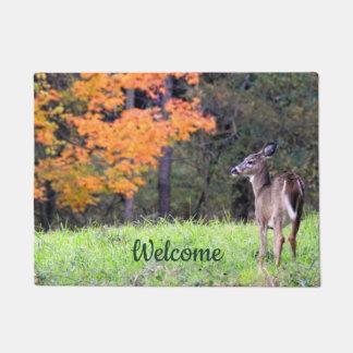 Welcome Deer in Autumn Doormat