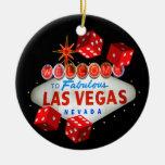 Welcome Dice Las Vegas Ornament