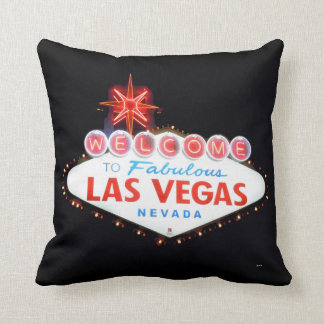 Welcome/Drive Carefully Las Vegas Sign Pillow